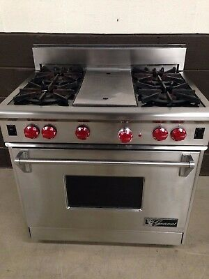 Wolf 36 Gas Range >> Wolf 36 Professional Gas Range Oven 4 Burners Grill In