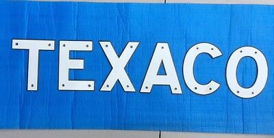 Pair of Porcelain Texaco Letter Signs