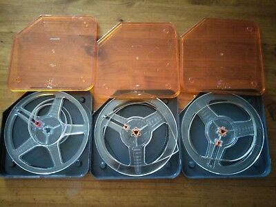Three (3x) Vintage 400' 8mm Reels & Cans 1 x Kodak & 2 x Kimberley - Free Post