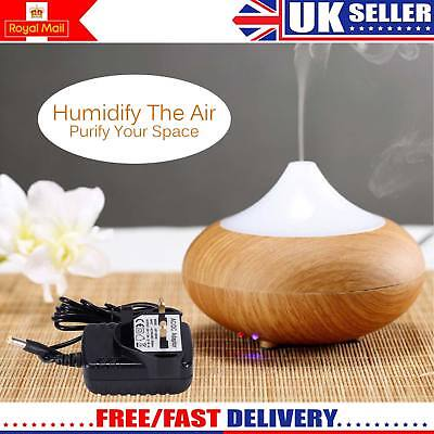 Ultrasonic Air Purifier Humidifier Color Led Oil Aroma Diffuser Aromatherapy Uk