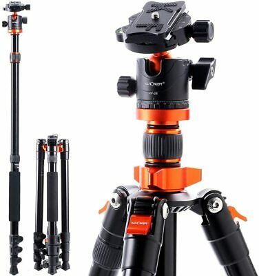 K&F Concept Professional Aluminum Camera Tripod&Ball Head for DSLR Canon Nikon