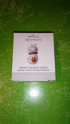 2017 Hallmark Teensy Weensy Ghost Halloween MINI Ornament Pumpkin VHTF