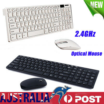 Slim 2.4GHz Wireless Keyboard & Mouse Combo Set For PC Desktop Laptop Win7/8/10
