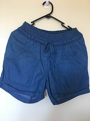 ANGEL Maternity Short Denim. Size S 100% Cotton. NEW with Tags. RRP 59.95.