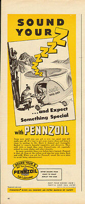 1950's Vintage ad for PENNZOIL (062213)