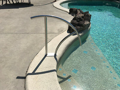 Swimming Pool Hand Rail Step Grab Rail 316 Stainless Steel Delux Bolt Down