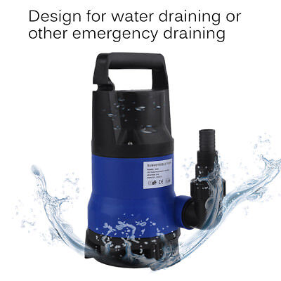 1HP 3432GPH Submersible Dirty Clean Water Pump Flooding Pond Swimming PooL EF