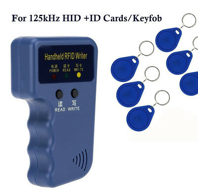 Portable Handheld RFID Writer/Copier Duplicator for All 125KHz HID ID Cards