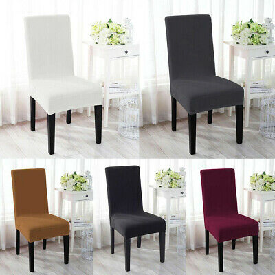 6x Removable Elastic Stretch Slipcovers Short Dining Room Chair Seat Cover Decor