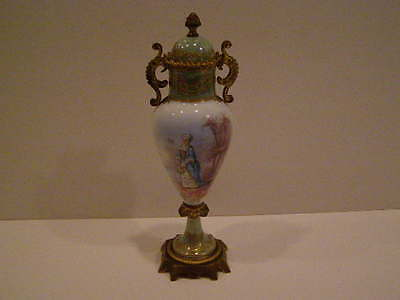 Small Sevres Gilt Metal Mounted Urn