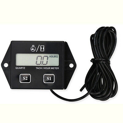 Digital LCD Display Tachometer RPM Measure Device Car Motorcycle Speed Timer UK