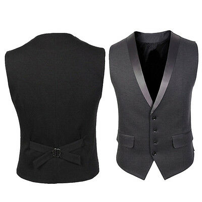 Formal Men's New Casual Slim Fit Skinny dress Vest Business Waistcoat Coat UK