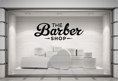 Barber Shop Window Sticker Barbershop Hairdresser Salon Display Vinyl Sticker