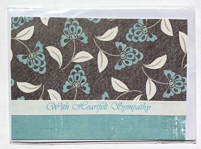 Handmade Sympathy Card, Blank Inside, Max $2 Postage For Any Number of Cards