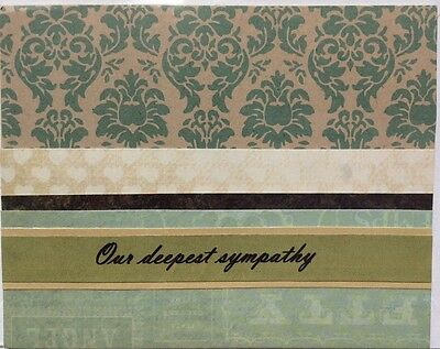 Handmade Sympathy Card: Blank Inside, Flat $2 Postage For Any Number of Cards