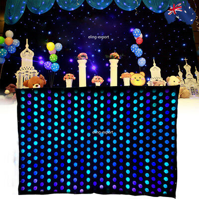 2m x 3m LED Video Matrix Curtain Star Cloth PC Backdrop P20 Wedding Stage Party