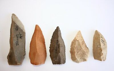 Aboriginal -  Set Of Large Stone Blades - Points & Knives.