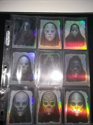 "Harry Potter Order of the Phoenix ""9 card chase set Foil DEATH EATERS"