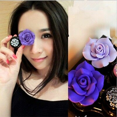 Cosmetic Contact Lenses Care Box Candy Color Camellia Flower For Women Girls