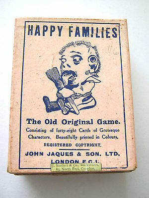 Jaques Happy Families Antique Playing Cards Game Complete 48 Cards & Rules 1910