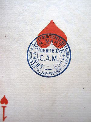 French Gatteaux 1853 Duty & Romanian 1900 Secondary Deck Antique Playing Cards