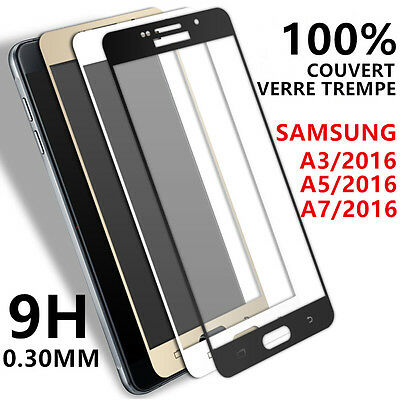 SAMSUNG GALAXY A3/A5/A7 2016 2017 VITRE VERRE TREMPE Film protection écran full