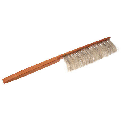 SS Beekeeping Bee Brush Beekeeper Beehive Tool Horse Bristle with Wooden Handle-
