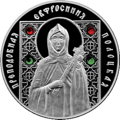 Belarus 2008 10 rubles St Euphrosyne of Polotsk Proof Silver Coinin