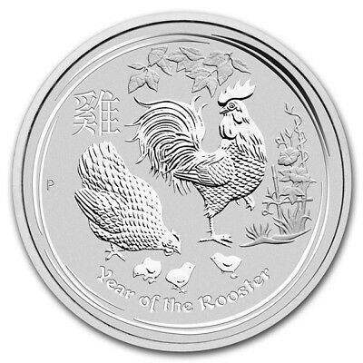 Australia 2017 0.5$  Year of the Rooster  1/2 oz UNC  Silver Coin