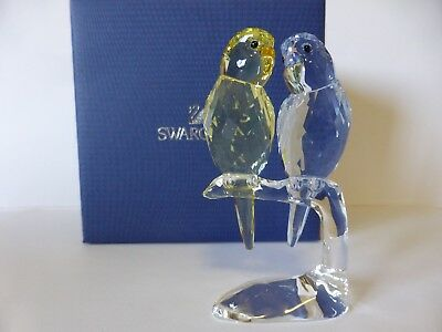 Swarovski Silver Crystal Budgies New Mib