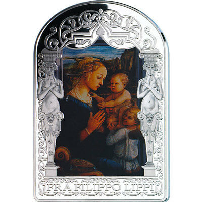 Andorra 2013 15 din Madonna Child Two Angels Fra Filippo Lippi Proof Silver Coin