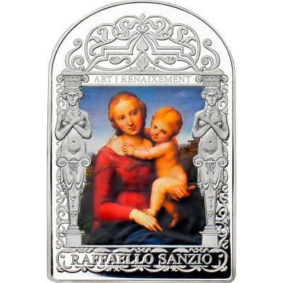 Andorra 2013 15 diners Small Cowper Madonna by Raphael.  Proof Silver Coin