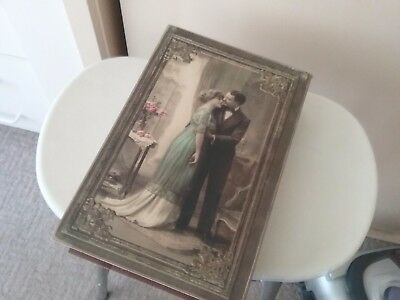 Vintage book box   ,old fahioned, new