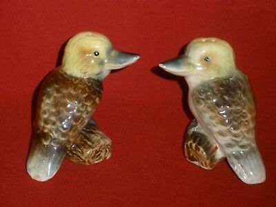 Vintage KOOKABURRA POTTERY SALT & PEPPER SHAKERS Very Good Condition
