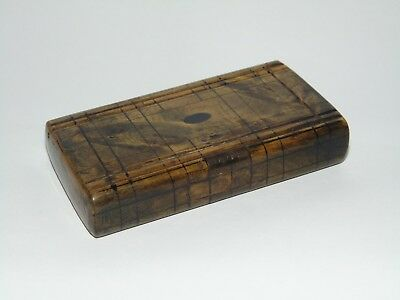 RARE ANTIQUE 1800's WOODEN PUZZLE TRICK SNUFF BOX Well Made & in GOOD CONDITION