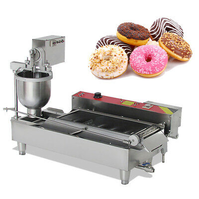 Commercial Electric Automatic Doughnut Donut Machine Donut Maker W/3 Size