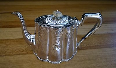 Vintage Harrington Teapot Sheffield Silver Plated