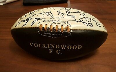 1970's Collingwood Magpies Autographed VFL / AFL Sherrin Football