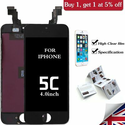 For iPhone 5C Replacement LCD Display Screen Touch Black Digitizer Assembly