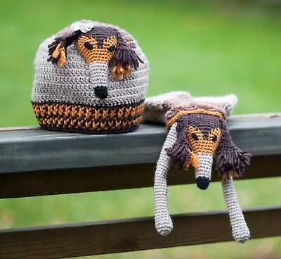 SALUKI beanie and scarf - for kids or as a collectible