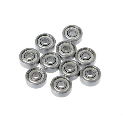 10Pcs 624ZZ Metal Mini Double Shielded Flanged Ball Bearing For 3D Printer Part