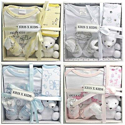 Newborn Baby Gift Set 4 piece 100% Cotton 0-3 Months