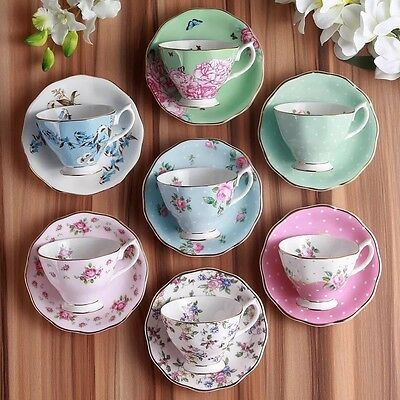 English Afternoon Tea Set/ Cup And Saucer/ Pink Rose Pattern
