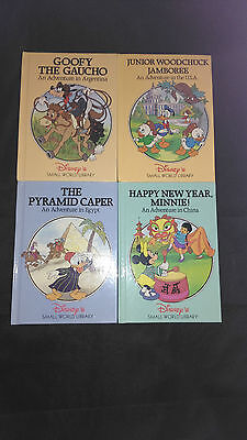 Walt Disney's Small World Library Books X 4 China/Argentina/Egypt/U.S.A