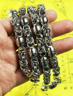 Big 10mm 28 Inches Stainless Steel Necklace Solid for thai amulet handmade@10