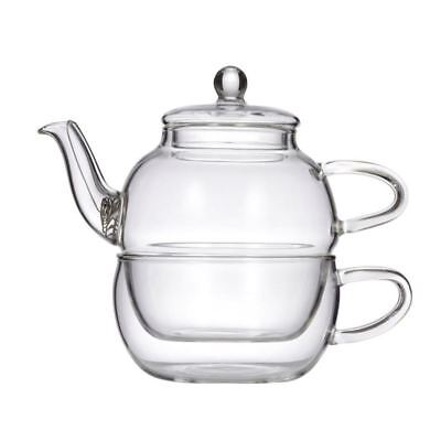 Davis & Waddell Leaf & Bean - Crysanthemum Glass Tea for One