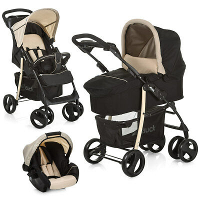 Hauck Kinderwagen 3in1 Set Shopper SLX Beige / Babyschale Kombikinderwagen