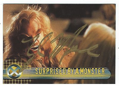 Topps Marvel X-Men Movie Trading Card #42 Signed By Tyler Mane (Sabretooth) Good