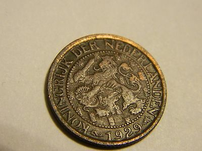 1929 Netherlands 1 Cent Old Coin ---- Lot #2875