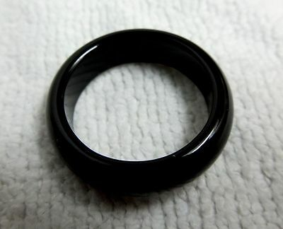 100% Natural Authentic Handcrafted Thai Gem Stone Onyx Band  Ring Size 7.5